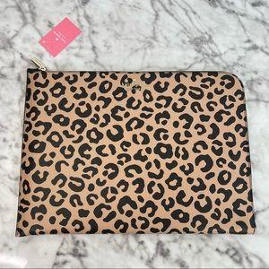 Kate Spade Staci Graphic Leopard Cheetah L-zip Universal Laptop Sleeve
